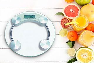 Cuida tu Peso! Balanza de Baño de Vidrio Templado Circular