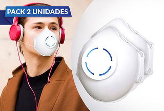 Pack 2 Mascarillas Re utilizables, lavables con filtro