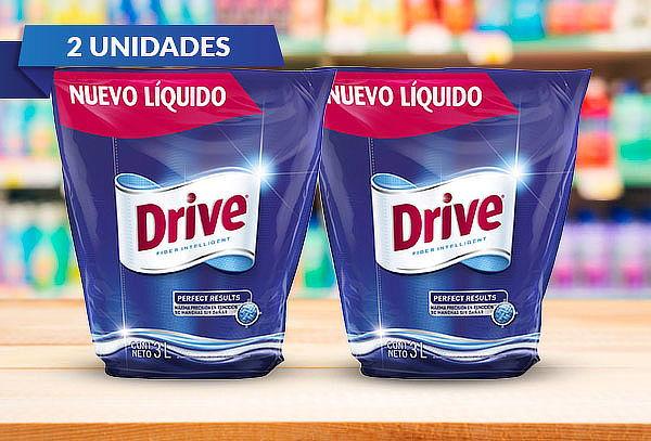 Pack de 2 Drive liquido 3LT Doypack