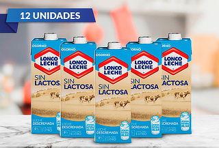 Pack 12 LoncoLeche Sin Lactosa Descremada 1 L