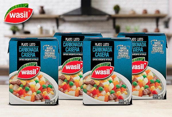 Pack 4 Wasil Caja de Carbonada Lista 380 g
