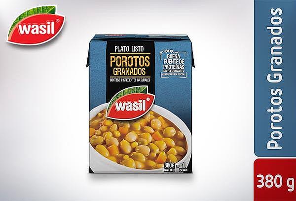 Pack 4 Wasil Caja de Porotos Granados Listos 380 g