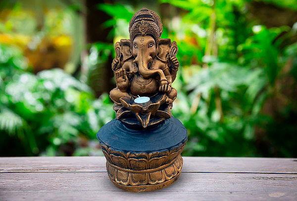¡Imperdible! Figura Ganesha Portavela Ziña 44 cm