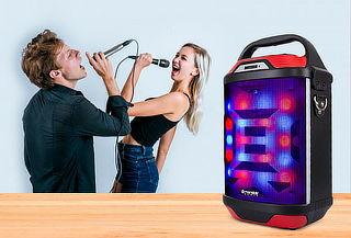 Noches de Karaoke? Parlante Monster Bluetooth Led 885