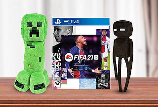 PACK FIFA 21 +  Peluche Minecraft para PS4