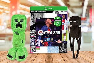 PACK FIFA 21 +  Peluche Minecraft para XBox One
