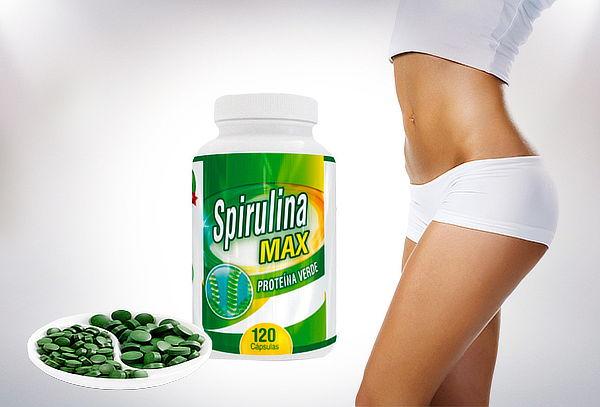 Spirulina Max Proteína Verde 120 Cápsulas