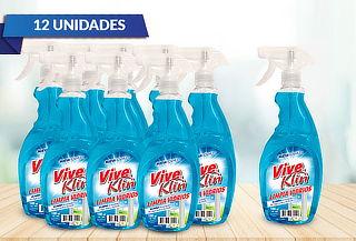 12 Botellas de Limpia vidrios con Gatillo de 1 Lt.