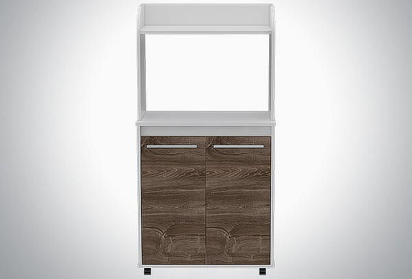Mueble Microondas  Color Siena / Blanco Tuhome