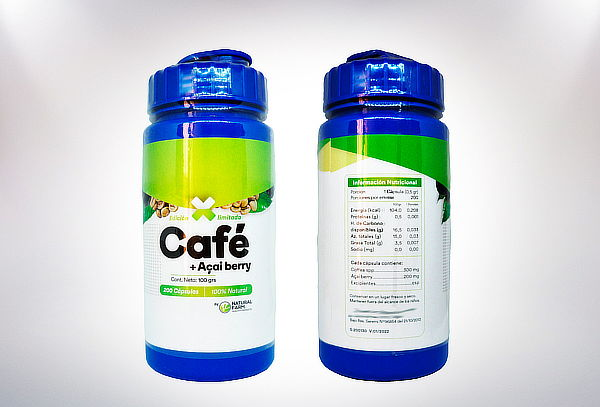 Natural Farm!   Cafe Verde + Acai Berry 200 capsulas