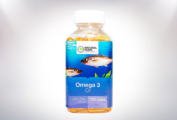 Frasco Omega 3 1000 mg 120 Soft Caps Natural Farm