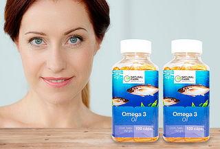Frasco Omega 3 1000 mg 120 Soft Caps Natural Farm