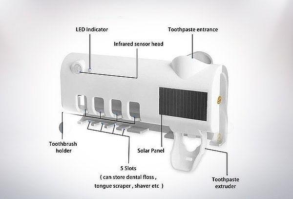 Esterilizador UV de cepillos carga Solar con retiro