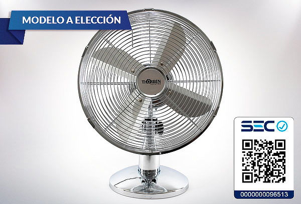 Ventilador Box Metálico Thorben, Modelo a Elección