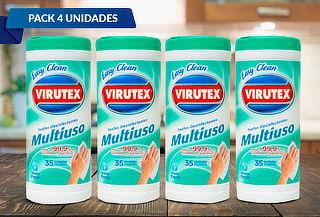 Pack 4: 35 Toallitas Desinfectantes Virutex Aroma Fresh