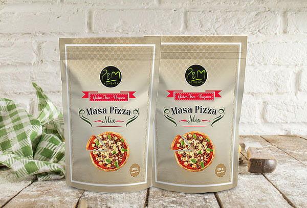 Preparación masa de Pizza vegana 500 Grs.