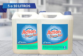 5 o 10 Litros de Cloro Gel Action Concentrado