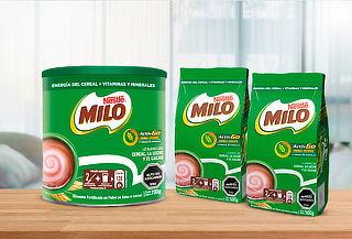 Tarro Milo Saborizante para leche 700g + 2 Bolsas 500g
