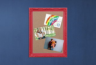 Pizarra de Corcho decorativa, color a elección