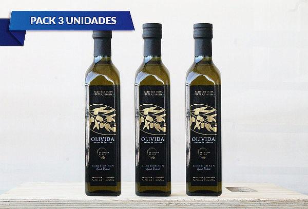 Pack 3 Aceites de Oliva 500 ml Olivida