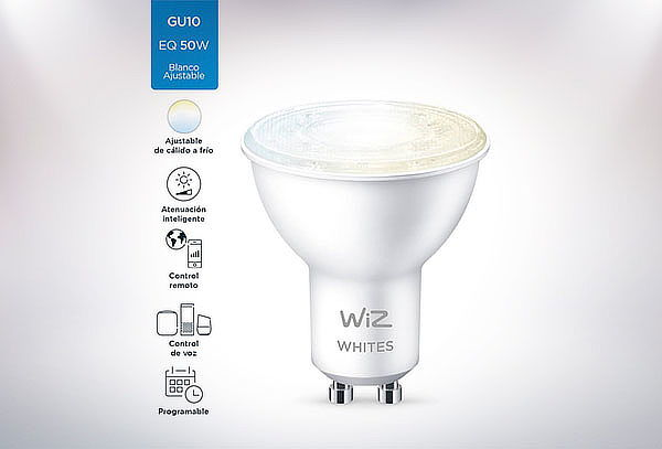 Ampolleta Wifi LED Wiz White Tunable GU10