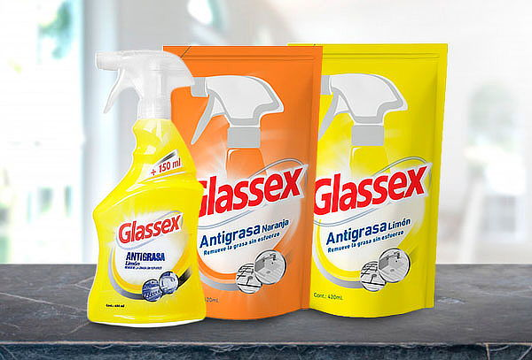 Pack Glassex® Antigrasa + 2 Recargas.