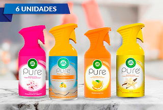 Pack de 6 Airwick Pure Aerosol