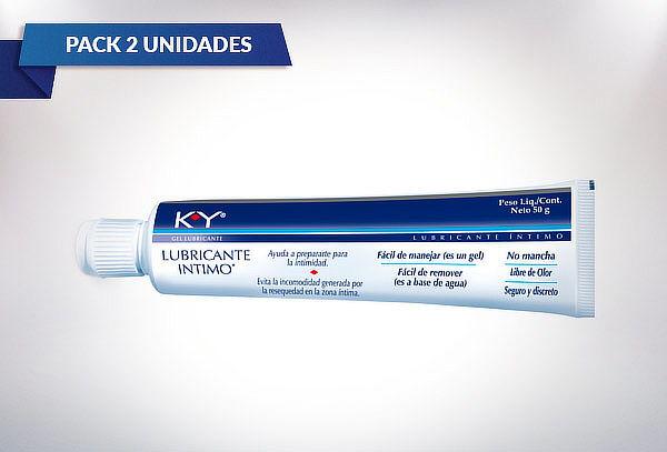 Pack 2 Gel lubricantes Intimo K-Y