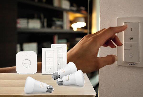 Kit Inicio 3 Ampolletas Inteligentes Bluetooth + 2 Dimmer