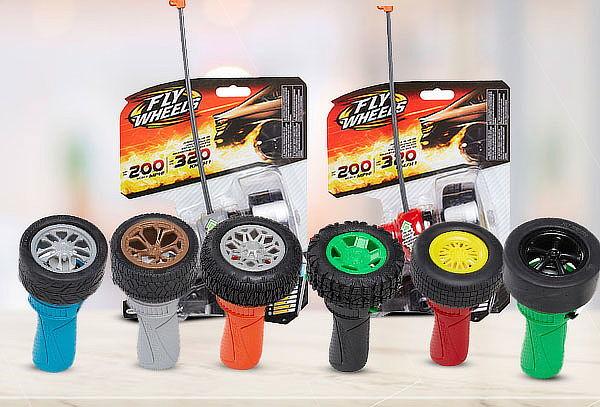 Fly Wheels Coleccionable Lanzador + Rueda