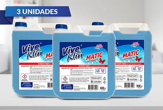 3 Bidones de detergente matic de 5 Lts. Viveklin
