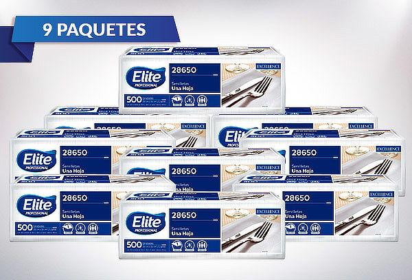 9 paquetes de servilleta Elite mesa flores pack 500 Un.