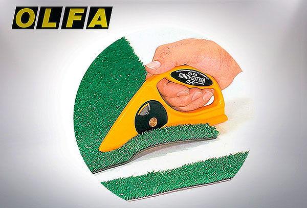 Cuchillo para cortes rectos de alfombra, plasticos. Etc