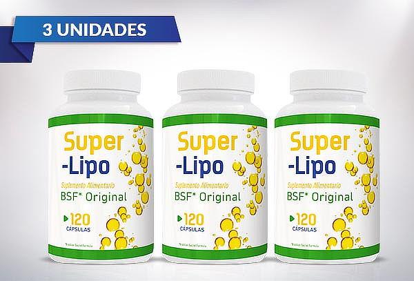 3 Frascos de Super Lipo 100% Natural