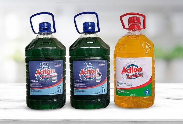 10 Lts Detergente Action + 5 Lts de Lavaloza Action