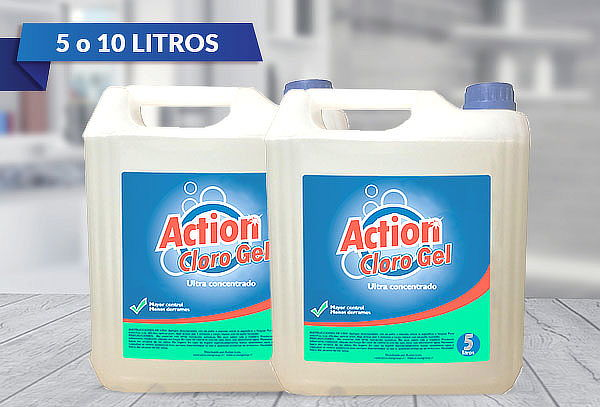 5 Litros de Cloro Gel Action Concentrado