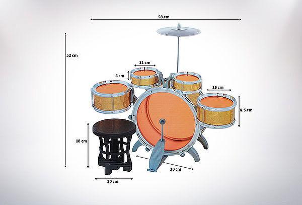 Batería Musical Niño Juguete Jazz Drum + Piso
