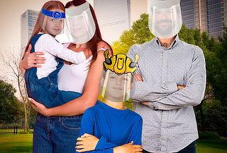 Protectores Faciales Pack Familiar, a elección
