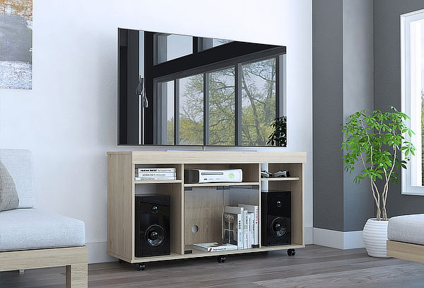 Mueble para Tv Vermon color Rovere Marca Tuhome