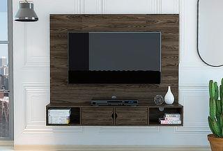 """Panel de TV 60"""" TuHome modelo Montpellier color coñac"""