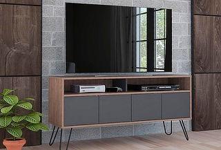 "Rack TV 55"" TuHome modelo Vassel color miel-plomo"
