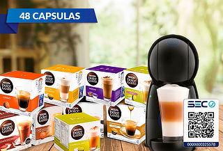 Cafetera DG Piccolo XS + 48 Capsulas Dolce gusto Lungo