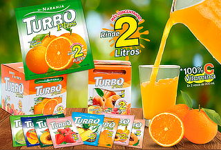 Pack 30 Sobres de Jugo en Polvo Turbo Plus o Turbo Zero