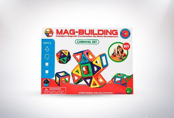 Juego Magnético Didáctico 28 Piezas Mag-building