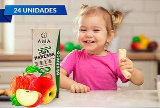 Pack de 24 Jugos Ama Orgánico 200ml Manzana