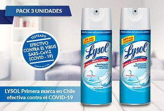 Pack 3 Lysol desinfectantes, Tamaño a eleccion