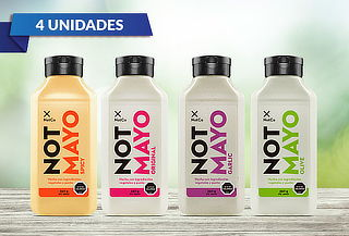 Pack 4 Not Mayo variedades de 350 gr cada uno