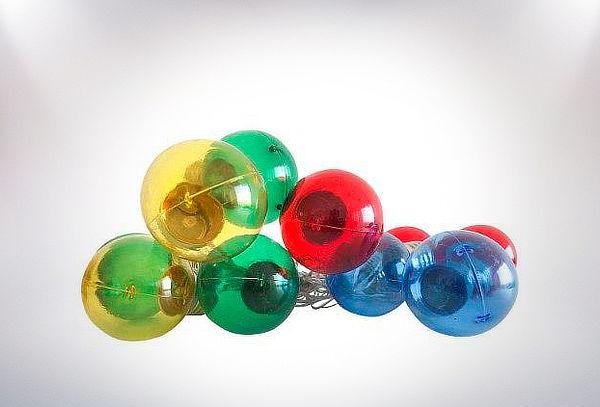 Guirnalda Ledzone Colores Transparente 10 Led Pilas