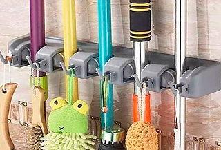 Organizador de pared para escobas, palas y más