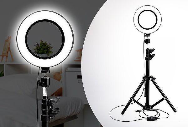 Anillo LED Selfie 26cm con Tripode 1,5mts ajustable